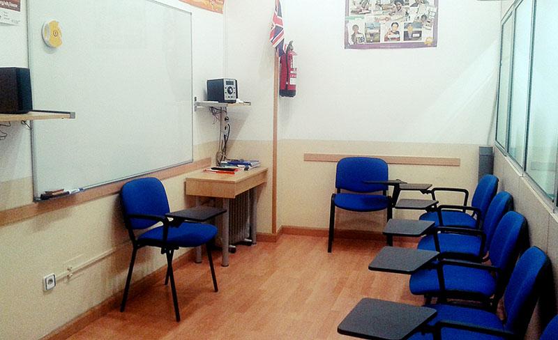 Aula de la academia de inglés Kent's English School en el Centro Comercial Covibar 2, local 18 en Rivas Vaciamadrid